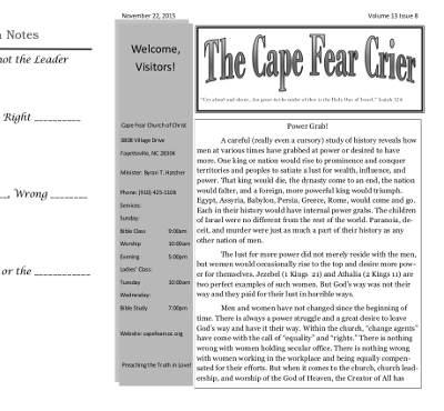 Cape Fear Bulletin